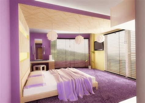 Modern Bedroom Interior Designs In Purple Color Scheme Purple Bedroom Colour Schemes Modern Design