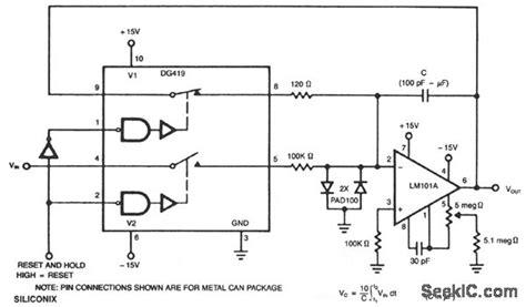 circuit diagram of an integrator resettable integrator basic circuit circuit diagram seekic
