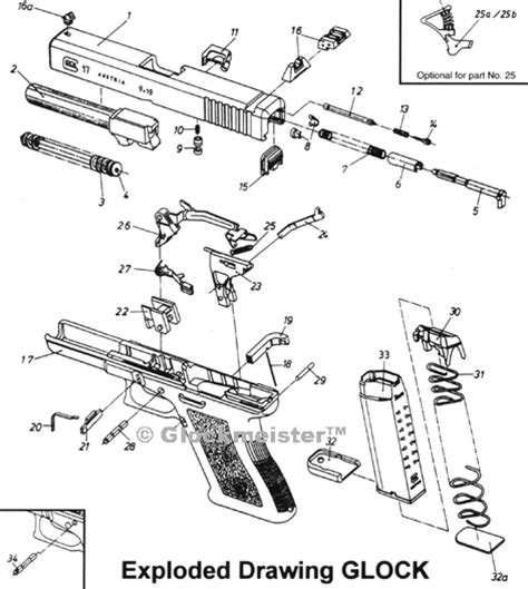 glock exploded diagram the gadget an additional safety device for glock pistols