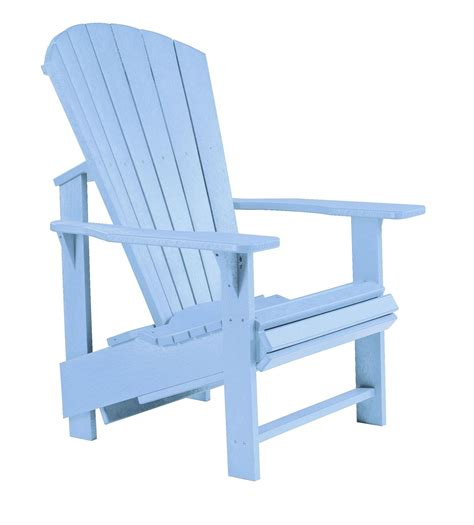 Blue Adirondack Chair by Generations Sky Blue Upright Adirondack Chair From Cr