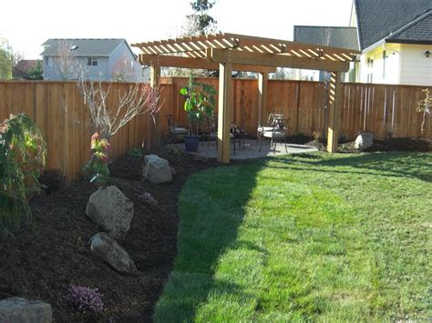 landscape backyard ideas bloombety backyard landscaping with pergola backyard