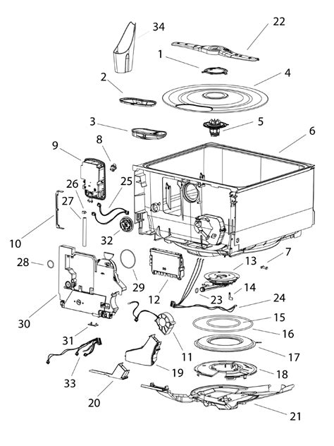 fisher paykel dishwasher parts diagram page 16 of fisher paykel dishwasher dd603i user guide
