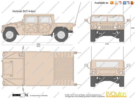 4 door jeep drawing hummer sut 4 door vector drawing