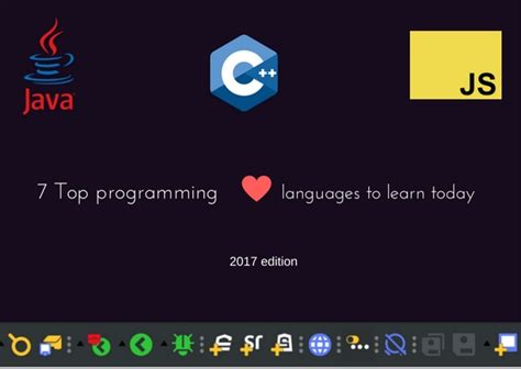 7 Best Languages To Learn by 7 Top Programming Languages To Learn In 2017 High