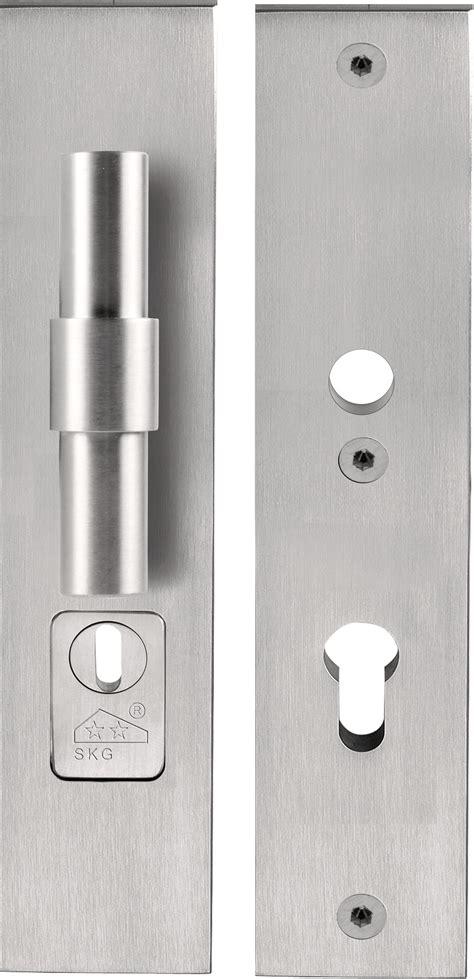 maniglia porta ingresso maniglia per porte d ingresso su piastra in acciaio inox