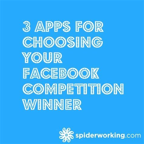How To Pick A Winner For A Facebook Giveaway - 3 tools for picking facebook competition winners