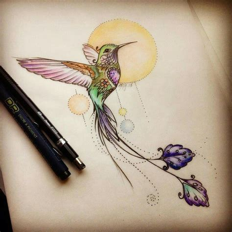 watercolor tattoo was ist das best 25 hummingbird drawing ideas on