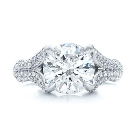 custom pave engagement ring 102176