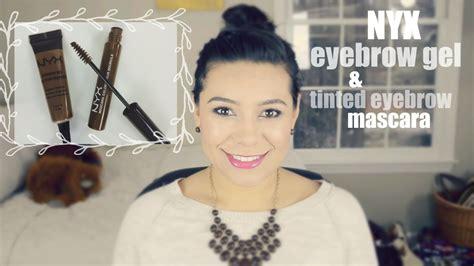 Nyx Eyebrow Mascara nyx eyebrow gel nyx tinted eyebrow mascara review demo