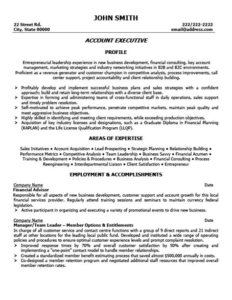 Account Executive Resume by Account Executive Resume Template Premium Resume Sles
