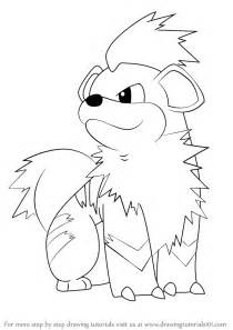 How To Draw Pokemon Growlithe Sketch Coloring Page sketch template