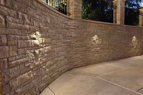 retaining wall accent lights wall lights design stone wall lights decoration designs