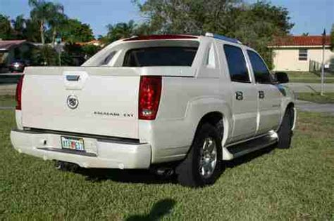 find used 2002 cadillac escalade ext escalade white cadillac ext truck low miles in miami