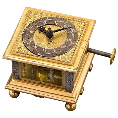Desk Clocks For Sale by Renaissance Horizontal Table Clock For Sale At 1stdibs