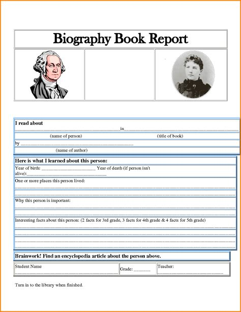 5 Biography Report Template Expense Report Biography Report Template