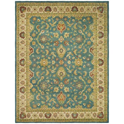 Blue And Beige Area Rugs Safavieh Antiquity Blue Beige 8 Ft 3 In X 11 Ft Area Rug At15a 9 The Home Depot