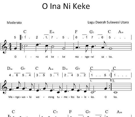 lirik lagu timor fula roja lagu daerah indonesia o ina ni keke