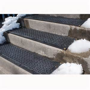 blocks outdoor heated industrial stair mat at