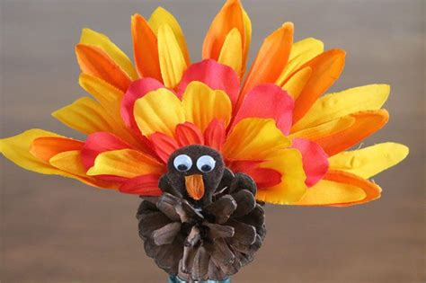 pinecone turkey craft how to make a pinecone turkey craft ehow