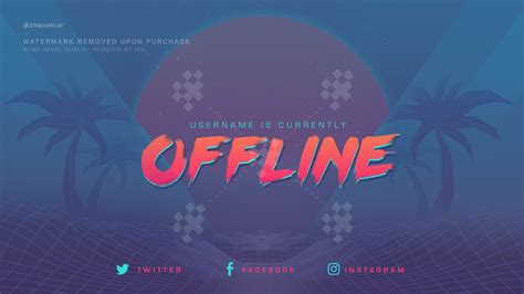 Twitch Profile Banner Templates Premade Offline Image Twitch Offline Banner Template