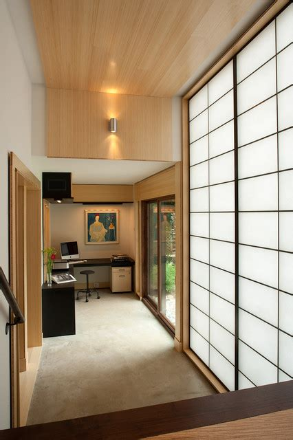 shoji screen home design ideas pictures remodel and decor shoji screens hall asian with glass doors home office