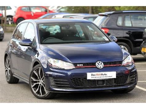 volkswagen gti blue volkswagen golf gti mk7 blue 4 wheel weakness