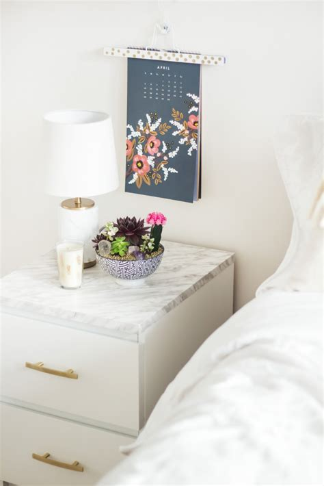 ikea besta nightstand how to with marble contact paper