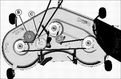 deere l130 deck belt diagram service mower