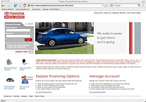 toyota financial services site toyotafinancial com