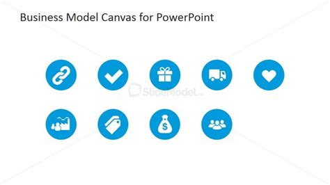 Business Model Canvas PowerPoint Icons   SlideModel