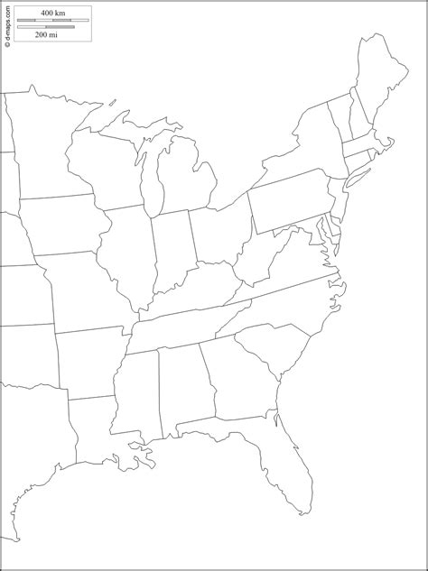 large blank us map large blank map of eastern us travel maps and major