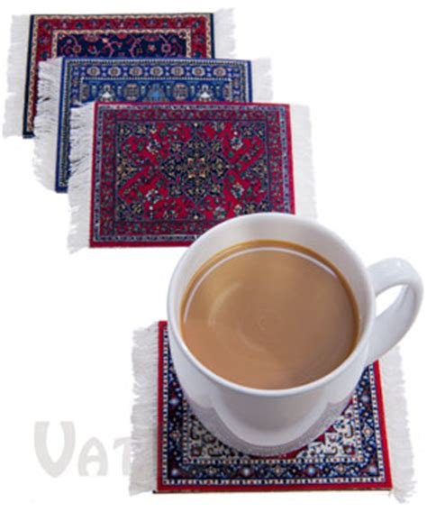 rug coasters coasterrugs washable colorfast and absorbent coasters with rug designs