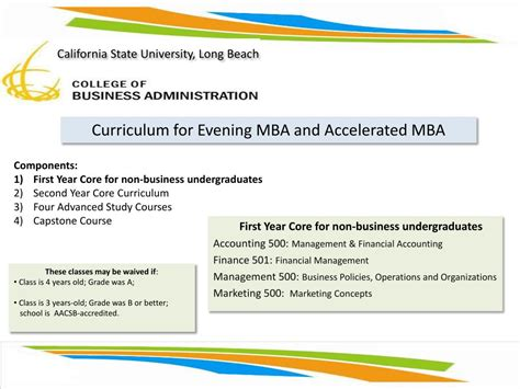 Csulb Mba Accreditation by Ppt Our Promise Graduate Education One Student At