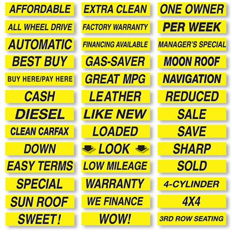 Auto Slogans by Vinyl Slogan Stickers Windshield Slogans Windshield