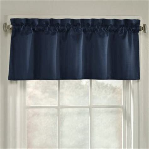 navy window curtains buy window valances from bed bath beyond