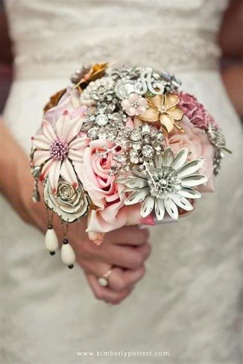 Handmade Wedding Bouquet - brooch bouquet custom heirloom bouquet with silk flowers