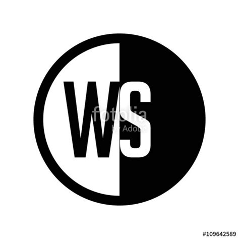 Search Ws Quot Initial Circle Half Logo Ws Quot Stock Image And Royalty Free Vector Files On Fotolia