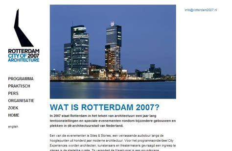 rotterdam 2007 city of architecture suzanne stam