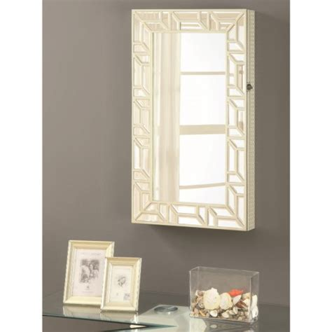 wall mounted mirrors bedroom coaster accent mirrors wall mounted jewelry armoire