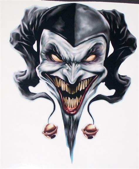 tattoo skull joker jester skulls google search beaus leather stuff