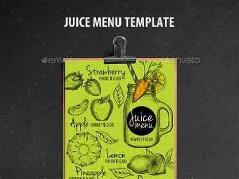 juice menu card templates 1702463 juice bar menu template 16963365 free psd