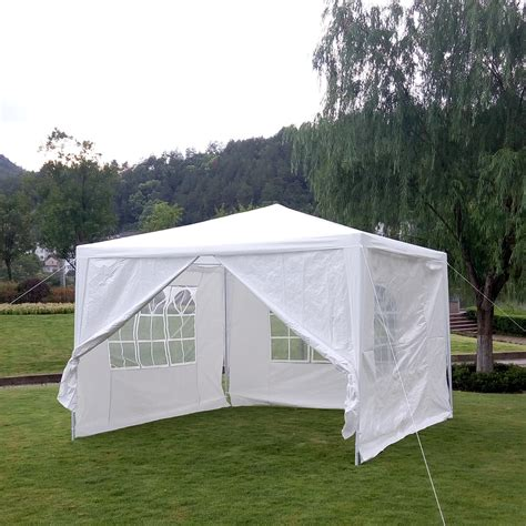 Awning Side Walls by Outdoor Canopy Wedding Tent White Gazebo Sunshade 4