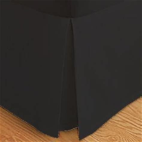 Black Bed Skirt by Wrinkle Free Solid Black Size