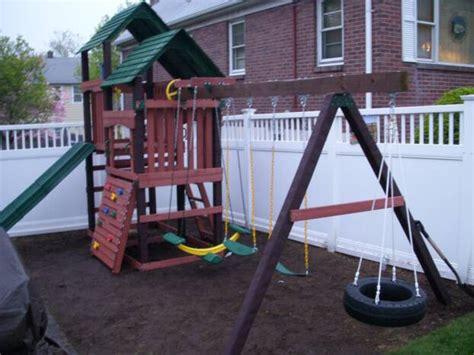 disney swing set swing set installation nj playset installer cedar summit