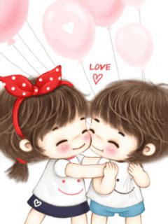 romantic love couple cartoon wallpapers pictures