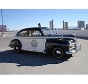 1948 Plymouth Special Deluxe 2 Door Police Patrol Car