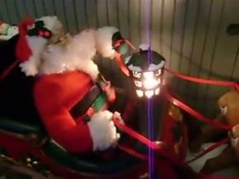 christmas cordation creations animated santa with reindeer sleigh musical illuminated box