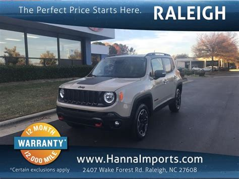 Jeeps For Sale In Nc by Jeep Renegade For Sale In Raleigh Nc Carsforsale