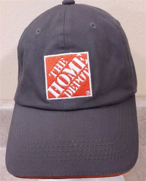 vintage the home depot hat baseball cap denim adjustable