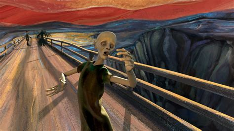 version of a fantastic animated version of edvard munch s painting